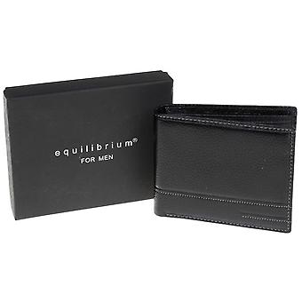 Men's Black Genuine Leather Wallet - Gift Boxed
