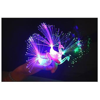 Luminous Ring Toy Fiber, Optic Pea Design Led Light Source Fashion Shiny