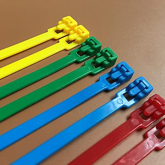 Releasable Colored Plastics Reusable Cable Ties - Ul Rohs Approved Loop Wrap