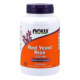 """עכשיו ממזון תמצית אורז שמרים אדומים, 1200 מ""""ג, 120 טבליות"""