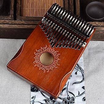 Stilvolle Kalimba Daumen Klavier, Mahagoni Körper Musikinstrument