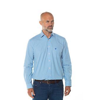 Crosby Check Långärmad skjorta i blått