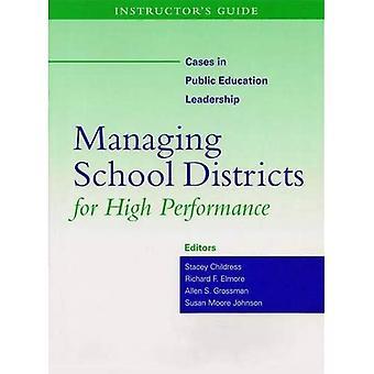 Management Schooldistricten Voor Hoge Prestaties: Instructeur's Gids