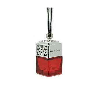 Designer em Carro Air Freshner Difusor Fragrância PerfumeInspired By (Emporio Giorgio Armani Diamonds for her) Perfume. Tampa cromada, garrafa vermelha 8ml