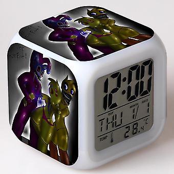 الملونة متعددة الوظائف LED الأطفال & apos;ق ساعة المنبه -سينكو noites لا فريدي #59