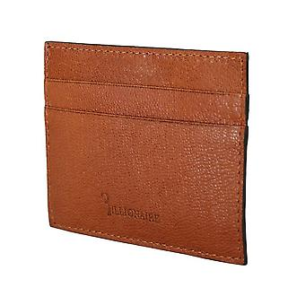 Brown leather cardholder w58602583