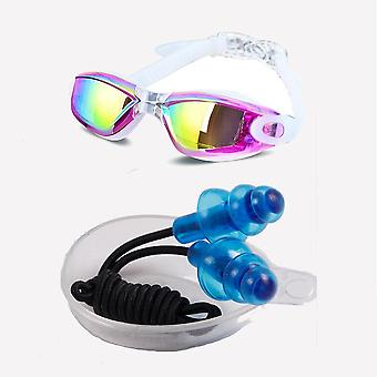 Adjustable Anti-uv Anti-fog Swimsuit Glasses For Ladies And Men Electroplating