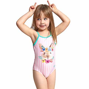 Zoggs Tots Girls Tropical Bunny U Back Swimsuit
