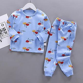 Kids Pajamas Sets, Cotton Long Sleeved Tshirt+pant