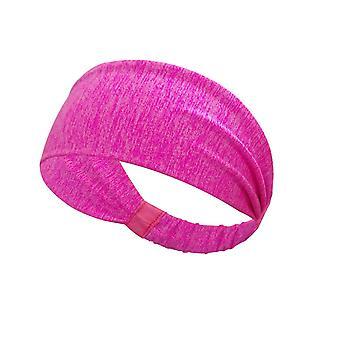 1 Pc Svett-absorberande andas Sport Pannband för kvinnor Flickor (Rose Red)