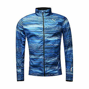 Puma Miesten Kevyt Sininen Polyesteri Graafinen Full Zip Jacket 512645 01
