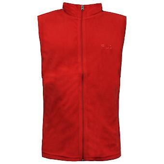 Fila Herren Gilet Bodywarmer Fleece Weste Reißverschluss oben rot U89672 644 A109A