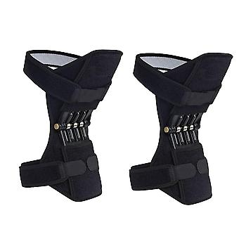 Breathable sports knee spring joint brace protector support power lift