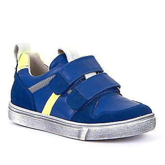FRODDO Leather Double Velcro Shoe Royal Blue