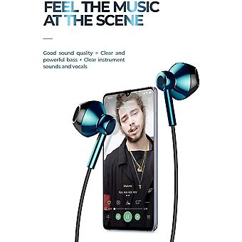 Linklike Quad Dynamic Drivers Air-Flow Hi-Res Extra Bass Headphones Noise Isolating Wired Earbud