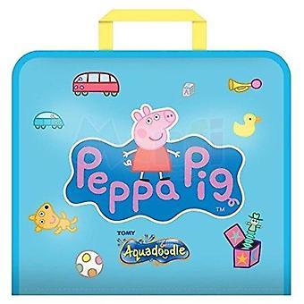 Aquadoodle peppa pig doodle viaggio acqua doodle mat, ufficiale tomy no mess colorazione e gioco di disegno,