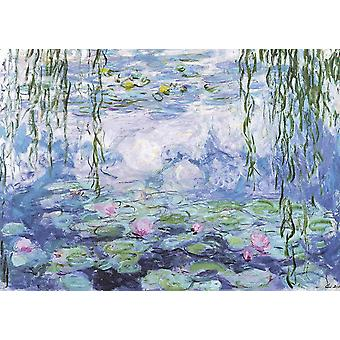 CHengQiSM Jigsaw Puzzles for Adults 1000 Pieces, Claude Monet Water Lilies 29.5 x 19.7 Inch