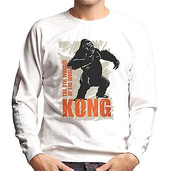 King Kong rugiendo la 8a maravilla del mundo Hombres's sudadera