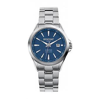 Beuchat BEUat watch,0106-2 - Silver Steel Dial Blue Women