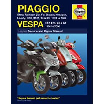 Haynes Manuell 3492 Piaggio Vespa ET2 ET4 LX2 LX4 50 125 GT125 GT200 1991-2009