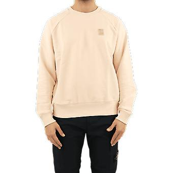 Filling Pieces Essential Two Stripe Crewneck Beige 80598781689EGGSHELL Top