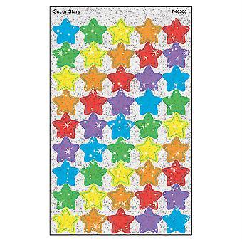 Super Estrellas Supershapes Stickers-Sparkle, 180 Ct