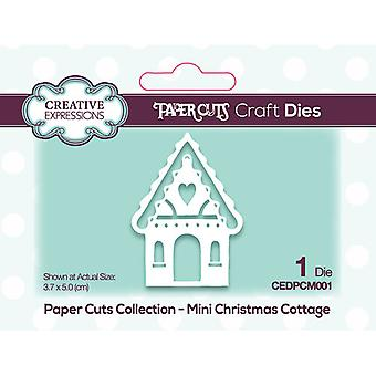 Creative Expressions Paper Cuts -kokoelman leikkaus kuolee - Joulumökki Mini