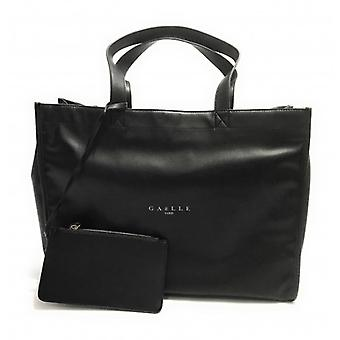 Gaëlle Maxi Shopper Women's Bag With Black Faux Leather Clutch B21ge02