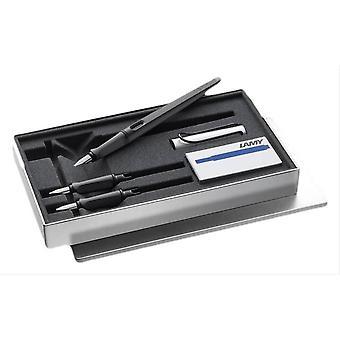 Lamy Joy AL Fountain Pen Set - Matte Black