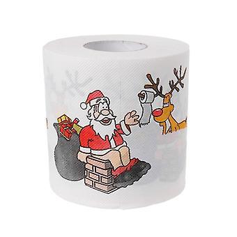 Rotolo di carta igienica del cervo di Babbo Natale, carta velina