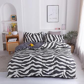 Simple Style Home Bedding Sets, Linen Duvet Cover Flat Sheet