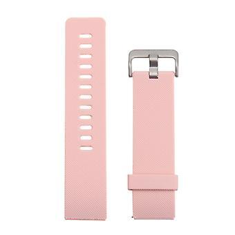 Pentru Fitbit Blaze Watch Oblique Texture Silicone Watchband, Large Size, Lungime: 17-20cm(Pink)