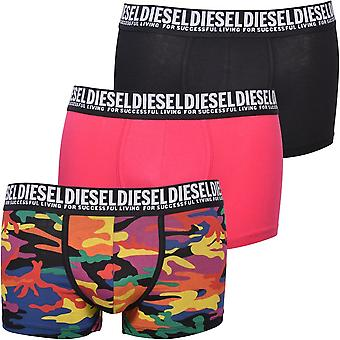 דיזל 3-Pack גאווה להדפיס בגדים בוקסר, שחור / רב / ורוד