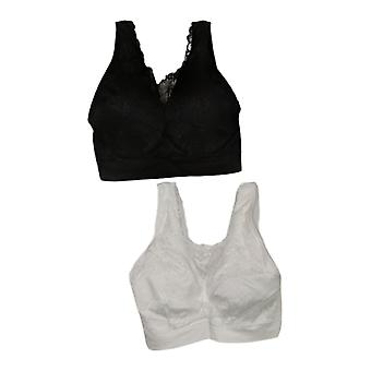 Breezies Bra D Set of 2 Lace Seamless Cami White A378013