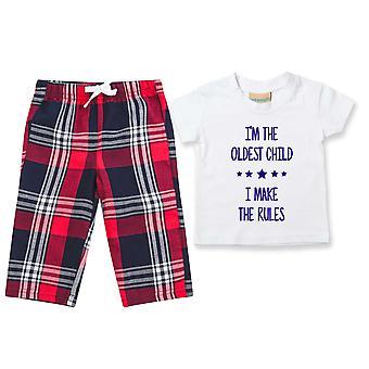 I'm The Oldest I Make The Rules Tartan Hose Pyjamas