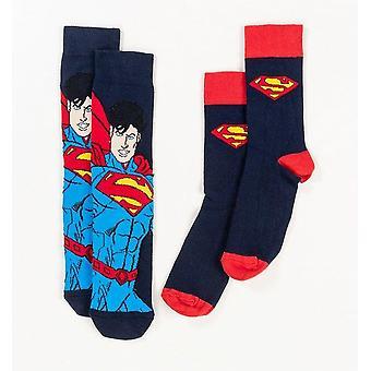 Superman Logo Cape socks 2 Pack