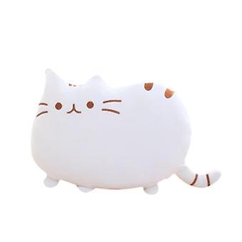 Sarjakuva pullea kissa takaisin tyyny, katsella tv, toimii universal söpö tyyny
