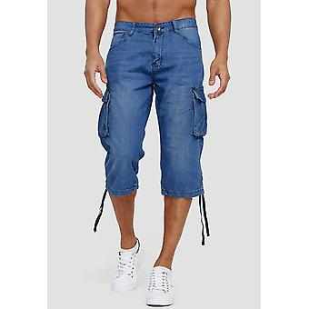 Mannen Denim Cargo Jeans Shorts 3/4 Bermuda Zomer broek Short SlimFit Biker Pant