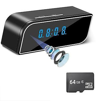 Hd Clock Camera Wifi Control, Concealed Ir Night View Alarm Camcorder