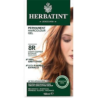 Herbatint, lumière cuivre Blonde cheveux Col 8R, 150ml