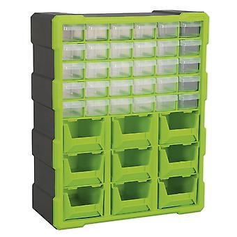 Sealey Apdc39Hv armoire 39 boîte tiroir - Salut-Vis vert/noir