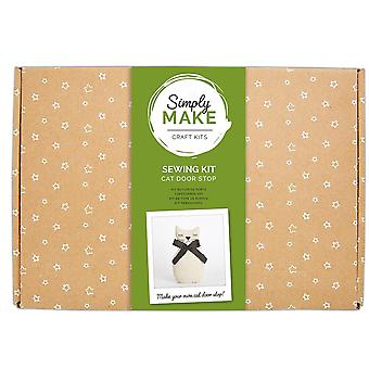 Sewing Kit in a Box - Cat Door Stop - Craft Kit