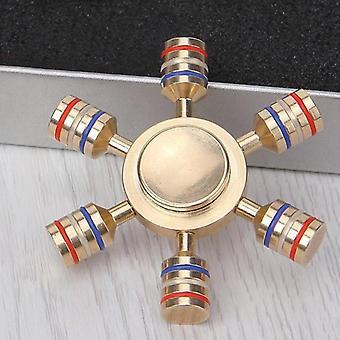 Detachable Hexa-bar Rudder Fidget Spinner