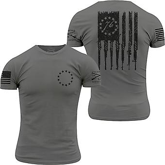 Grunt Stil Betsy Gewehr Flagge T-Shirt - Heavy Metal