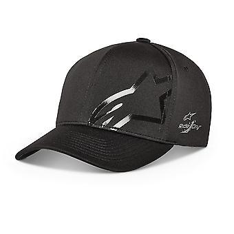 Alpinestars גברים&s כובע Flexfit מתכוונן ~ שחור טק בלתי מורגש