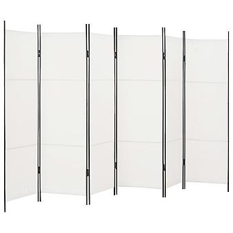 vidaXL 6個。部屋の仕切りホワイト300×180 cm