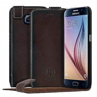 bugatti FlipCover Genuine Leather Amsterdam Samsung Galaxy S6 Brown