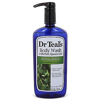 Dr Teal's Body Wash With Pure Epsom Salt by Dr Teal's Relax & Relief Body Wash with Eucalyptus & Spearmint 24 oz