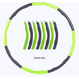 Detachable Hoola Hoop Green Slimming Hoop Exercise Equipment Hoops Fitness Hoop
