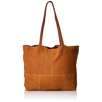 PIECES PCALEX Leather Shopper FC, Femme, Cognac, 51x36x11